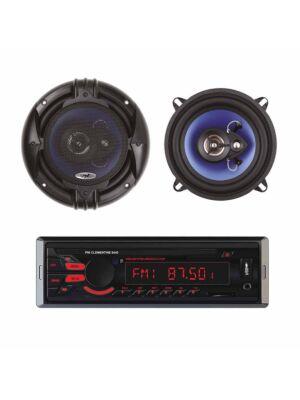 Pakiet radiowy Odtwarzacz samochodowy MP3 PNI Clementine 8440 4x45 w + Koncentryczne głośniki samochodowe PNI HiFi650, 120 W