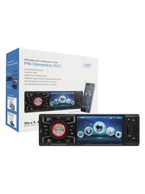 Odtwarzacz MP5 Clementine 9545 Wyświetlacz 1DIN 4 cale, 50Wx4, Bluetooth, radio FM, SD i USB, 2 wideo RCA IN / OUT