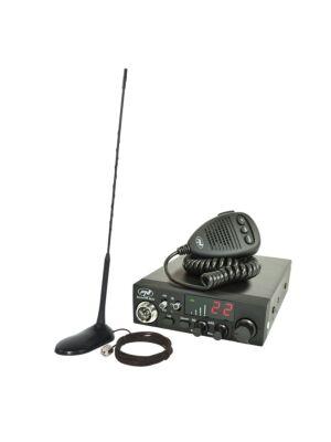 Radiostacja CB PNI ESCORT CB CB 8024 ASQ 12 / 24V + CB PNI Extra 45 antena magnetyczna