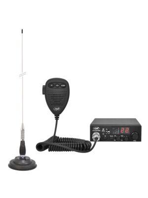 Zestaw CB radio CBI ESCORT HP 8000L ASQ + Antena CB PNI ML100