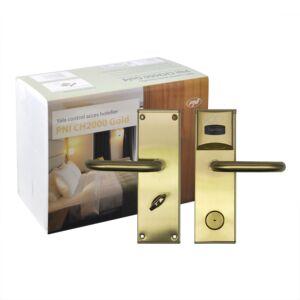 Kontrola dostępu do hotelu Yala PNI CH2000R Gold z otwartym czytnikiem kart po prawej stronie