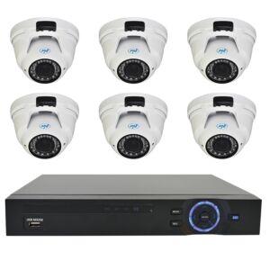 Zestaw do nadzoru wideo PNI House - kamera zmiennoogniskowa NVR 16CH 1080P i 6 PNI IP2DOME 1080P