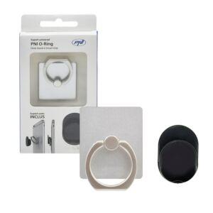 Uniwersalny uchwyt O-ring PNI, podstawa na biurko i Smart Grip, srebrny, w zestawie wsparcie auto