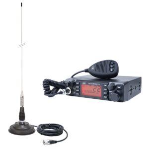Regulowana antena HP 9001 PRO ASQ, AM-FM, 12V, 4W + CB PNI ML100