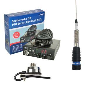 CBR CBI Station CBI ESCORT CB 8024 ASQ + CB PNI ML160 Antena z obsługą T941